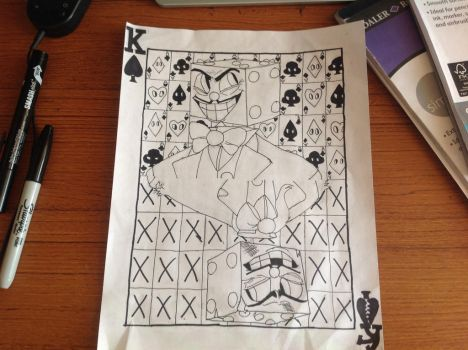 Wip King Dice Playing Card by CRichwine