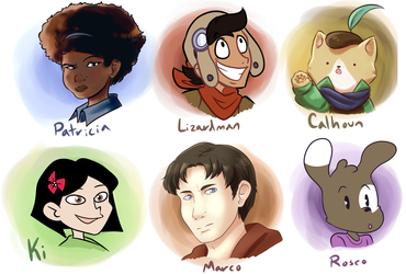 I tried to make some random character designs by MagicalPouchOfMagic