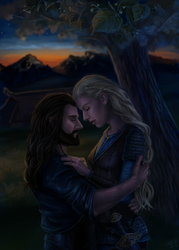 Thorin and Helmwyn Commission by x-Celebril-x