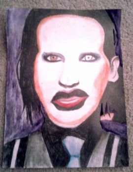 Marilyn Manson Drawing by dbzrocker910