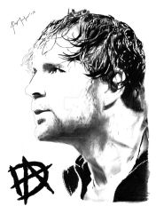 Dean Ambrose: Lunatic Fringe by ThePissICallArt