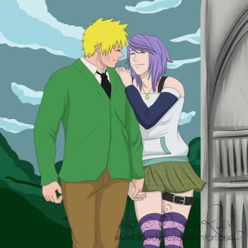 Mizore and Naruto at Youkai by TheRealKyuubi16