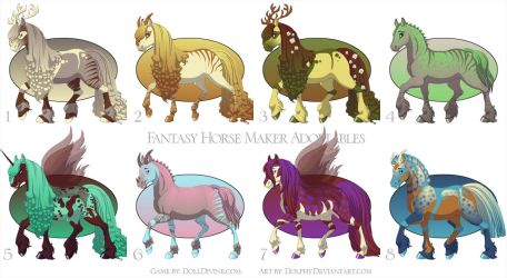 Horse Maker Adoptables - ALL GONE by dolldivine