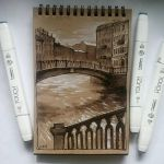 Instaart - Bridge on Griboyedov Canal by Candra