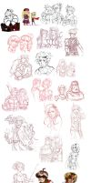 final fantasy - sketchdump 2 by spoonybards