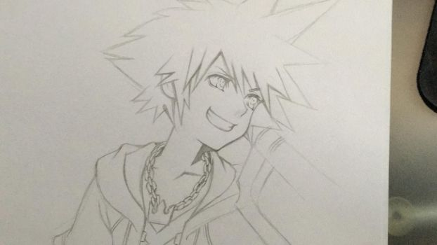 Kingdom Hearts Lineart : Anime favourites by dramamasks22 on deviantart