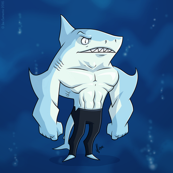 Shark Guy by JoeCostantini