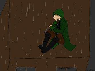 The Lonely Assassin with an Empty Heart - COLORED by AshenCrystal