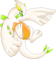 Yellow Lugia by RougeSulfura