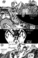 Miiverse adventure art - KNIGHT Mii by ZedKalEios