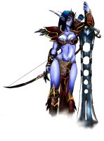 Night Elf - Colored by PandaPopRock
