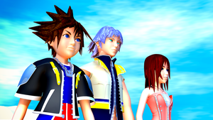 Sora, Riku, and Kairi by TheRPGPlayer