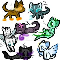 CHEAP Cat Adoptables CLOSED by My8thLife
