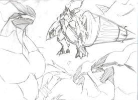 Zekrom Sketches by SpottedAlienMonster