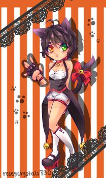 Halloween Adopt 1: Cat by roseycrystals730
