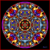Red eye mandala by ivankorsario