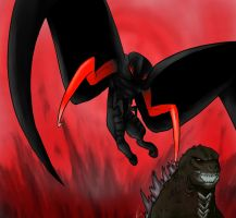 Godzilla vs. Winged Muto Revisited by Daikaiju-Danielle