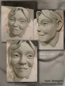 FACE-A-DAY 7/20 sculpture by Monstermann