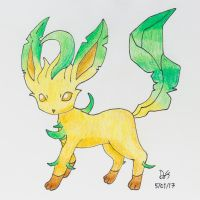 Leafeon by ElementalAndroid