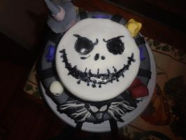 Nightmare Before Christmas Cake by Kate078