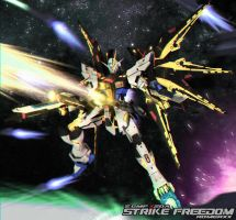 ZGMF-X20A STRIKE FREEDOM GUNDAM v.Custom by romerskixx