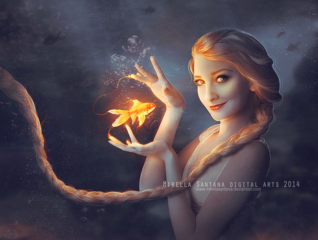 Elsa and Goldfish (version) by MirellaSantana