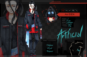 [DPR] Fiche Personnage - Aoi EIEN by MaelysTremblay