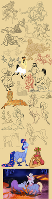 Centaur sketches by Emone