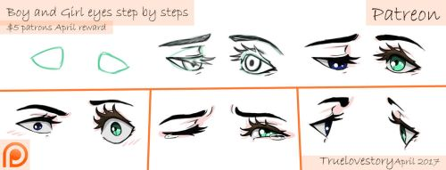 Boy and Girl eyes step by step (teaser) by TrueLoveStory