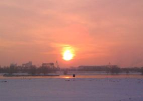 cold winter sunset I by SonjaVanessa