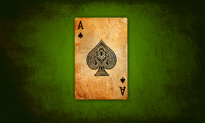 ace of spades v.green by hooki