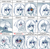 many Kaite expressions by vintricktive