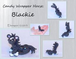 Candy Wrapper Horse Blackie by MalaCembra