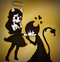 InkBendy and Alice by 7SpringBonnie7