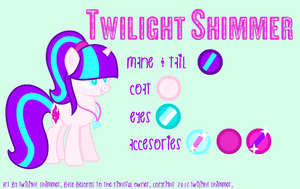 My oc colour guide! by xXTwilight-ShimmerXx