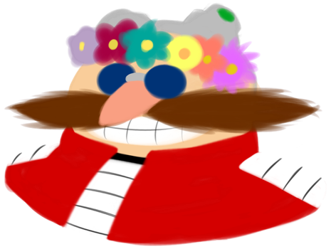 Dr Eggman and a Flower Crown by AftonTrash
