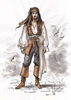 Captain Jack Sparrow sketch. by Bormoglot