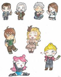 Chibis everywhere by Mirmille