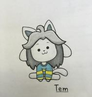 Temmie Drawing by Lauren-Draws