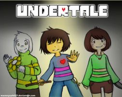 Undertale - Frisk,Asriel and Chara by MasterOhYeah
