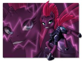 Tempest Shadow in armor by MagarNadge