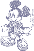 Sketch - Mickey Mouse by kevinxnelms