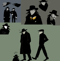crow henchman sketches by Spoonfayse