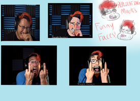 Mark's funny faces by Raymour