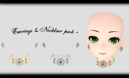 [MMD] Earrings and Necklace Pack DL ~ by o-DSV-o