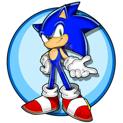 Sonic [Sonic Channel Style] by Baitong9194