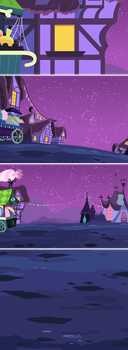 MLP Backgrounds: Nightmare Night by grievousfan