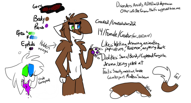 crooked art ref by crookedstar212