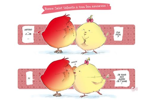 Saint Valentin des poussins by Evi-san