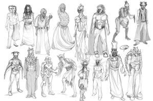 Face Off- Season 6- Black and White Sketches by MissTakArt